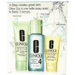 Clinique 3step Skin Care System4 Liquid Facial Soap 50 ml + 100 ml Clarifying Lotion 4 + 30 ml DDMgel dárková sada