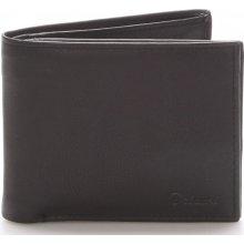 Delami Pánská kožená peněženka černá Five černá
