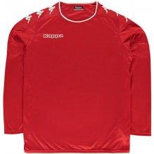 Kappa Santos Long Sleeve Top Mens Red/White