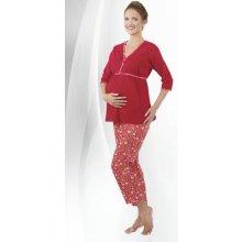 Regina mateřské pyžamo kapri tříčtvrteční červená