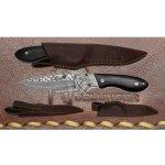 Dellinger Intruder limited Lovecký damaškový nůž s koženým pouzdrem- vyrobeno pouze 60 ks