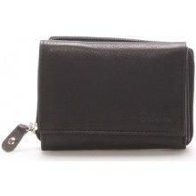 Delami Peněženky Kožená černá peněženka 8230 Černá