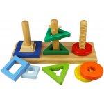 Bigjigs Toys motorická hračka Nasaď a otoč