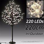 Svítící stromek třešňový květ s 220LEDs, V - venkovní provoz > varianta 220cm délka