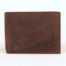 Always Wild Pánská kožená peněženka N992 Crazy hnědo-černá dbed94038a