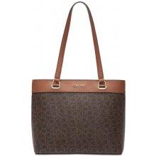 Calvin Klein Mercy signature tote brown luggage 0c45677debe