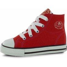 Dunlop dětské Canvas high Top tenisky Red