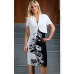 Color collection zeštíhlující dámské šaty s bolerkem 53048334b9