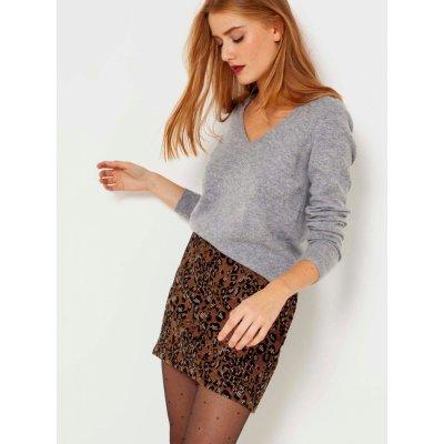 Camaieu sukně s leopardím vzorem hnědá