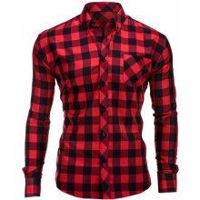Lamar pánská károvaná košile Červeno-černá 19a43f12ea