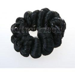 V V Gumička do vlasů s kroucenými vlasy - černo hnědý od 59 Kč ... 3fab1f54c1