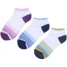 Emi Ross dámské kotníkové bavlněné ponožky s proužky 3 páry