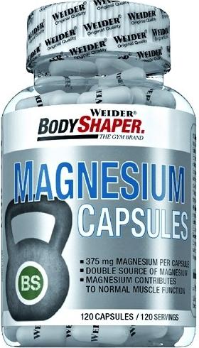 Výsledek obrázku pro Weider Magnesium Caps 120kapslí