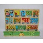 Bambilon puzzle dřevo dětská vkládačka Krtečkův expres