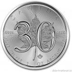 Maple Leaf Investiční stříbrná mince 2018 30.výročí 1 Oz