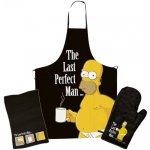 Curepink Kuchyňská zástěra a rukavice Homer Simpsons