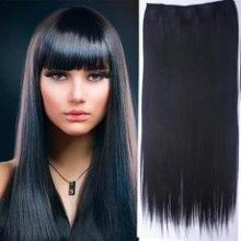 Clip in vlasy - 60 cm dlouhý pás vlasů - odstín 1B - černá