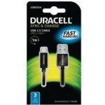 Duracell USB5031A propojovací USB-A -> USB-C, 1m, černý