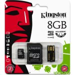 Kingston microSDHC 8GB Mobility Kit G2 class 4 + adaptér + čtečka MBLY4G2/8GB