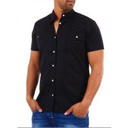 bf6cd017994 Carisma pánská Černá Slim Košile krátkýrukáv - black alternativy ...