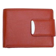HMT pánská kvalitní kožená peněženka s přezkou červená