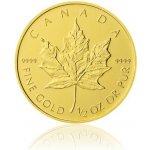 Maple Leaf Česká mincovna Zlatá investiční mince 1 2 Oz 20 CAD stand 15,55 g