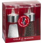 Cole & Mason FLIP CHROME dárková sada, mlýnek na pepř a sůl 154mm