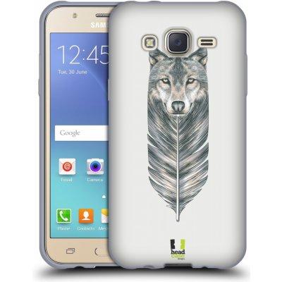 Pouzdro HEAD CASE Samsung Galaxy J5, J500, (J5 DUOS) vzor zvířecí pírka vlk