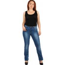 d6cac0960 Glara Dámské džíny s šisováním - i pro plnoštíhlé modrá 247190