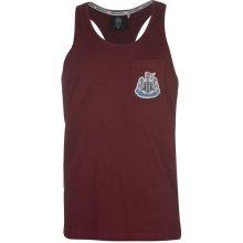 NUFC Newcastle United Muscle Vest pánské burgundy