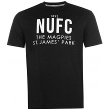 Team NUFC Magpie T Shirt Mens black