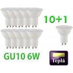 Spleed 10+1 LED žárovka SMD 2835 GU10 6W 580L – Teplá bílá