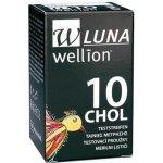 Wellion LUNA DUO testovací proužky pro měření cholesterolu 10 ks