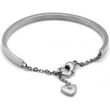 Troli ocelový náramek se srdcem KBS-151-SIL KBS-151-SIL