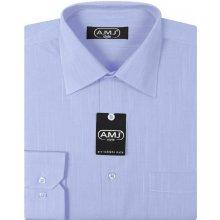 eced4aa0ccd AMJ pánská Košile s dlouhým rukávem Světle modrá VD282