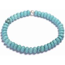 Lavaliere pánský korálkový náramek modrý tyrkys 12901