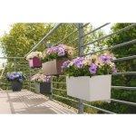 Lechuza Květináč Balconera Color Břidlicová, 80 cm