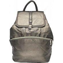 972bee38b1b Aga sikora Kožený batoh zelený metalíza