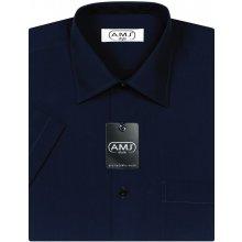 AMJ pánská košile s krátkým rukávem Tmavě modrá JK087
