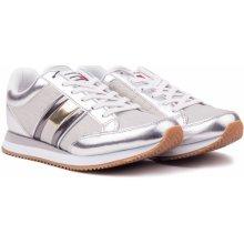 8579e2081be3 Tommy Hilfiger stříbrné tenisky WMN Casual Retro Sneaker Silver
