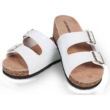 Fit Walk korkové pantofle bílé