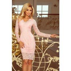 ba8c5257e1f Numoco dámské šaty krajkové s dlouhým rukávem 170-4 růžová