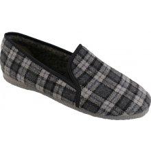 Bačkory papuče pánské Pegres 3014 důchodky šedé káro d63c3d2479