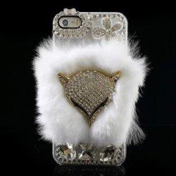 Pouzdro BOBO v 3D provedením kočky Apple iPhone 5 5S Bílé ... 774fa60f325