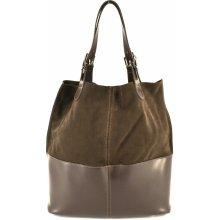 Arteddy dámská kožená kabelka tmavě hnědá 789999d4515