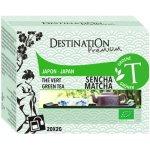Destination Bio zelený čaj Sencha Matcha 20 x 2 g