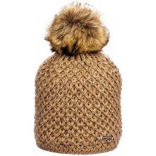 af5ad1ce0f0 Zimní pletená čepice s podšívkou a bambulí hnědá od 219 Kč - Heureka.cz
