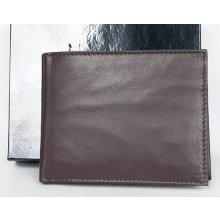 Designer Italiano Hnědá kožená peněženka