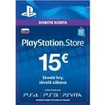 Sony PlayStation Store předplacená karta 15 EUR