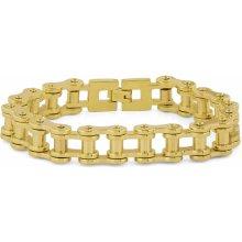 Trendhim Robustní ocelový náramek Řetěz na kolo ve zlaté barvě Z0-5-11110